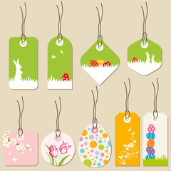 collection of easter tags