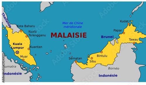 Carte de la Malaisie