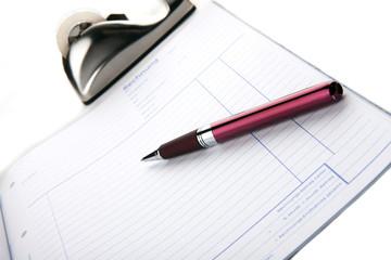 Rechnung mit Stift