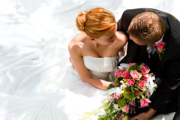 Paar an Hochzeit - Braut und Bräutigam