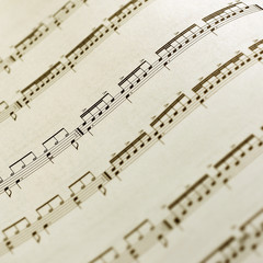 Close up of Sheet music