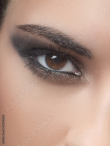 Close-up of woman's eye