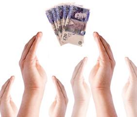 Giving Money Concept