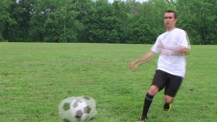Soccer Goal Kick 02