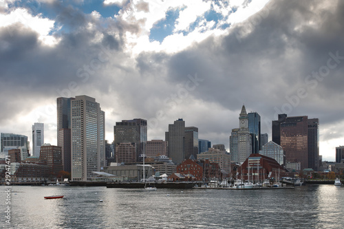 Boston Skyline as seen from the Atlantic Ocean