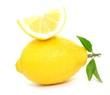 Zitrone, aufgeschnitten