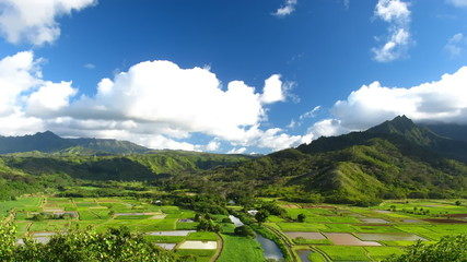 Time lapse Clouds over Hanalei Valley, Kauai, Hawaii