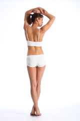 Fit body of young healthy woman in from behind