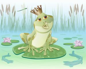 froschkönig im teich