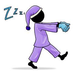 Silhouette-man - sleepwalker