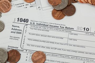 USA 1040 Income Tax Form