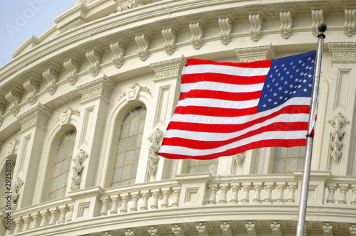 flag over the Capitol