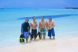 Group of Men going snorkeling together