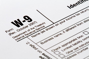 W-9 taxpayer identification number