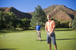 Playing Golf on a mountain course
