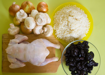 chicken and other ingredients
