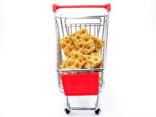Shopping Trolly with Crispbread