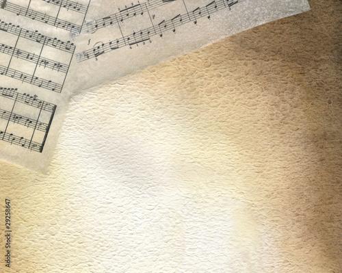 Sfondo seppia con spartiti musicali