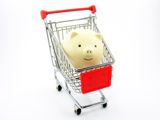 Shopping Trolly with a Pig