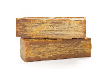 Bar of the brown soap