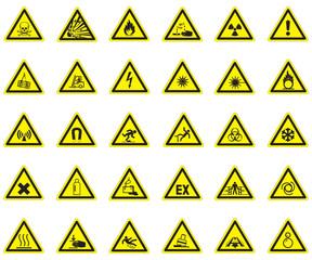 Warnzeichen set