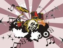 Grunge Music Instrument Background