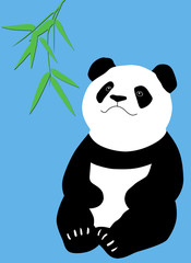 Panda With Bambo
