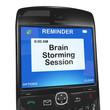 Calendar reminder, brain storming session