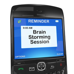Calendar reminder, brain storming session