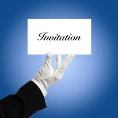 Holding invitation card