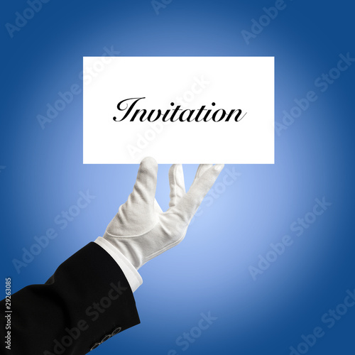 Holding invitation card