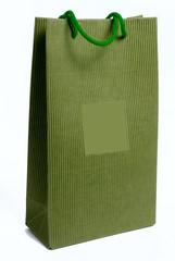 shopper in cartone verde