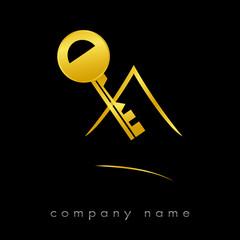 Logo clef maison Or