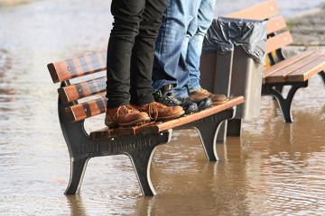 Keine nassen Füße