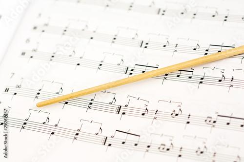 Baton and music