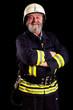 lächelnder Feuerwehrmann
