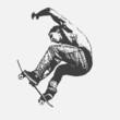 boy jumping on a skateboard