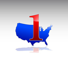 Logo number one in USA # Vector