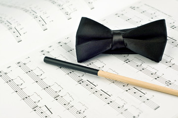 Bow tie and baton