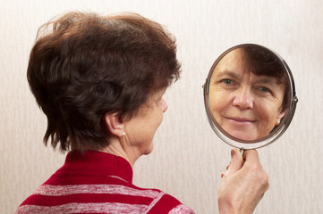 Looking at the mirror