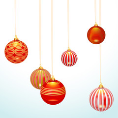 Vector christmas hanging ball