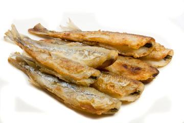 fried small smelt fish