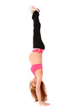 Maternity Hand Stand Upside Down poster