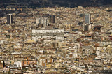 View of Barcelona looking from mount Montjuic. Spain. poster