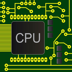 electronic circuit board with chip