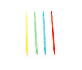 Four colorful toothpicks