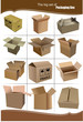 Big Set of carton packaging boxes isolated over a white backgrou