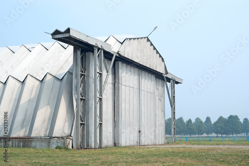 A hangar on the military aerodrome