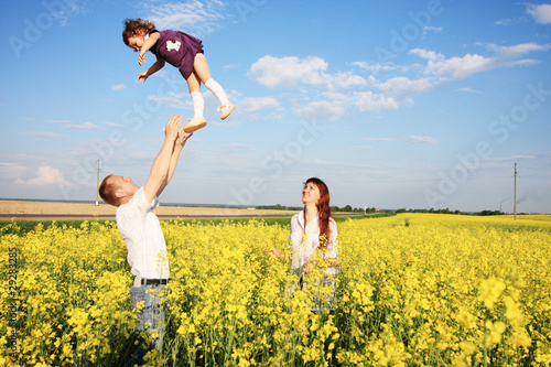 happy family outdoor
