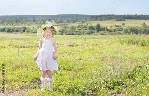 little girl outdoor